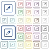 Get object color outlined flat color icons - Get object color color flat icons in rounded square frames. Thin and thick versions included.