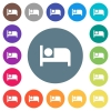 Hotel flat white icons on round color backgrounds - Hotel flat white icons on round color backgrounds. 17 background color variations are included.