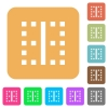 Vertical border rounded square flat icons - Vertical border flat icons on rounded square vivid color backgrounds.