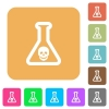Dangerous chemical experiment rounded square flat icons - Dangerous chemical experiment flat icons on rounded square vivid color backgrounds.