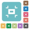 Small screen rounded square flat icons - Small screen white flat icons on color rounded square backgrounds