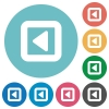 Toggle left flat white icons on round color backgrounds - Toggle left flat round icons