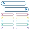 Two headed battle axe icons in rounded color menu buttons - Two headed battle axe icons in rounded color menu buttons. Left and right side icon variations.