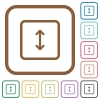 Adjust object height simple icons - Adjust object height simple icons in color rounded square frames on white background