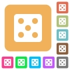 Dice five rounded square flat icons - Dice five flat icons on rounded square vivid color backgrounds.
