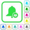 Team reminder vivid colored flat icons - Team reminder vivid colored flat icons in curved borders on white background