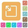 Resize object rounded square flat icons - Resize object flat icons on rounded square vivid color backgrounds.