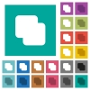 Add shapes square flat multi colored icons - Add shapes multi colored flat icons on plain square backgrounds. Included white and darker icon variations for hover or active effects.