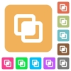 Intersect shapes rounded square flat icons - Intersect shapes flat icons on rounded square vivid color backgrounds.