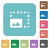 Enlarge photo rounded square flat icons - Enlarge photo white flat icons on color rounded square backgrounds