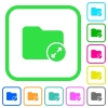 Uncompress directory vivid colored flat icons - Uncompress directory vivid colored flat icons in curved borders on white background