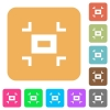 Small screen rounded square flat icons - Small screen flat icons on rounded square vivid color backgrounds.
