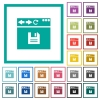 Browser save flat color icons with quadrant frames - Browser save flat color icons with quadrant frames on white background
