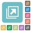 Open in new window rounded square flat icons - Open in new window white flat icons on color rounded square backgrounds