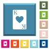 King of hearts card white icons on edged square buttons - King of hearts card white icons on edged square buttons in various trendy colors