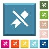 Untag white icons on edged square buttons - Untag white icons on edged square buttons in various trendy colors