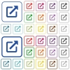 Open in new window outlined flat color icons - Open in new window color flat icons in rounded square frames. Thin and thick versions included.