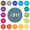 Emergency call 911 flat white icons on round color backgrounds - Emergency call 911 flat white icons on round color backgrounds. 17 background color variations are included.