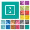 mirror object around horizontal axis multi colored flat icons on plain square backgrounds. Included white and darker icon variations for hover or active effects. - mirror object around horizontal axis square flat multi colored icons
