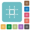 Snap to grid rounded square flat icons - Snap to grid white flat icons on color rounded square backgrounds