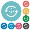 Adjust refresh rate flat round icons - Adjust refresh rate flat white icons on round color backgrounds