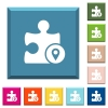 GPS plugin white icons on edged square buttons - GPS plugin white icons on edged square buttons in various trendy colors