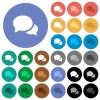 Discussion multi colored flat icons on round backgrounds. Included white, light and dark icon variations for hover and active status effects, and bonus shades. - Discussion round flat multi colored icons
