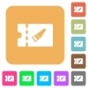 DIY shop discount coupon rounded square flat icons - DIY shop discount coupon flat icons on rounded square vivid color backgrounds.