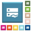 Shared drive white icons on edged square buttons - Shared drive white icons on edged square buttons in various trendy colors