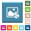 Share image white icons on edged square buttons - Share image white icons on edged square buttons in various trendy colors