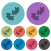 Cooperation darker flat icons on color round background - Cooperation color darker flat icons