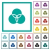 Color filter flat color icons with quadrant frames - Color filter flat color icons with quadrant frames on white background
