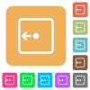 Move object left rounded square flat icons - Move object left flat icons on rounded square vivid color backgrounds.