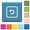 Rotate object left white icons on edged square buttons - Rotate object left white icons on edged square buttons in various trendy colors