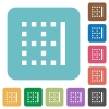 Right border rounded square flat icons - Right border white flat icons on color rounded square backgrounds