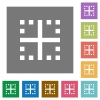 Inner borders square flat icons - Inner borders flat icons on simple color square backgrounds
