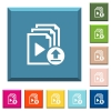 Upload playlist white icons on edged square buttons - Upload playlist white icons on edged square buttons in various trendy colors