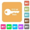 512 bit rsa encryption rounded square flat icons - 512 bit rsa encryption flat icons on rounded square vivid color backgrounds.