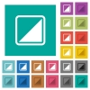 Invert object square flat multi colored icons - Invert object multi colored flat icons on plain square backgrounds. Included white and darker icon variations for hover or active effects.