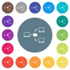 Network file system flat white icons on round color backgrounds - Network file system flat white icons on round color backgrounds. 17 background color variations are included.
