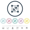 Resize element flat color icons in round outlines. 6 bonus icons included. - Resize element flat color icons in round outlines
