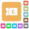 Pound discount coupon rounded square flat icons - Pound discount coupon flat icons on rounded square vivid color backgrounds.