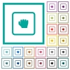 Grab object flat color icons with quadrant frames - Grab object flat color icons with quadrant frames on white background