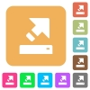 Export flat icons on rounded square vivid color backgrounds. - Export rounded square flat icons