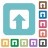 Upload rounded square flat icons - Upload white flat icons on color rounded square backgrounds