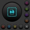 Place jpg file dark push buttons with color icons - Place jpg file dark push buttons with vivid color icons on dark grey background