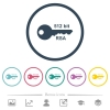 512 bit rsa encryption flat color icons in round outlines - 512 bit rsa encryption flat color icons in round outlines. 6 bonus icons included.