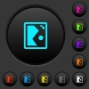 Rotate image right dark push buttons with color icons - Rotate image right dark push buttons with vivid color icons on dark grey background