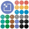 Resize object round flat multi colored icons - Resize object multi colored flat icons on round backgrounds. Included white, light and dark icon variations for hover and active status effects, and bonus shades.
