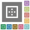 Outer borders square flat icons - Outer borders flat icons on simple color square backgrounds